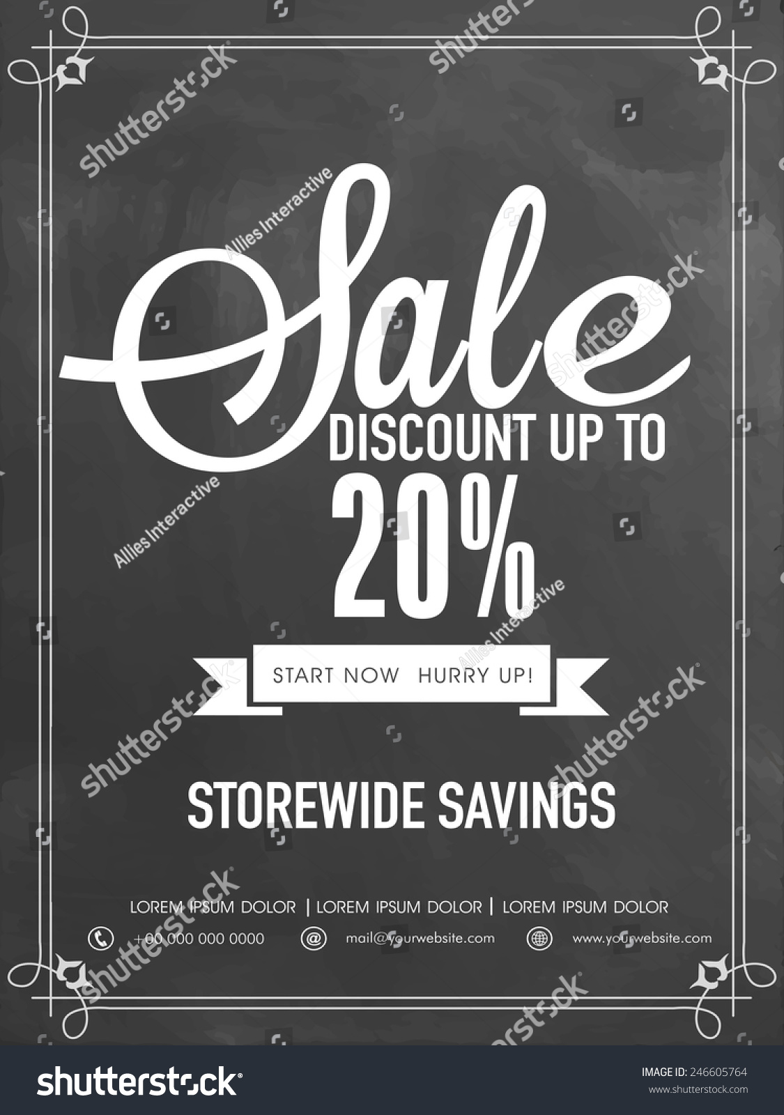 Sale Discount Upto 20 Off Flyer Vector 246605764 Shutterstock – Discount Flyer Template