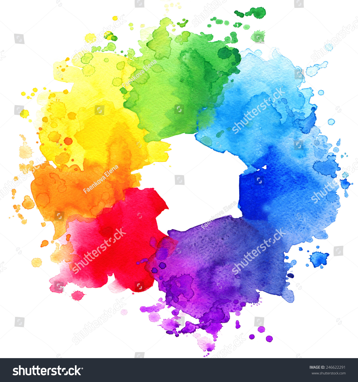 Abstract Colorful Splash Background Watercolor Background ...  Colorful Watercolor Splash