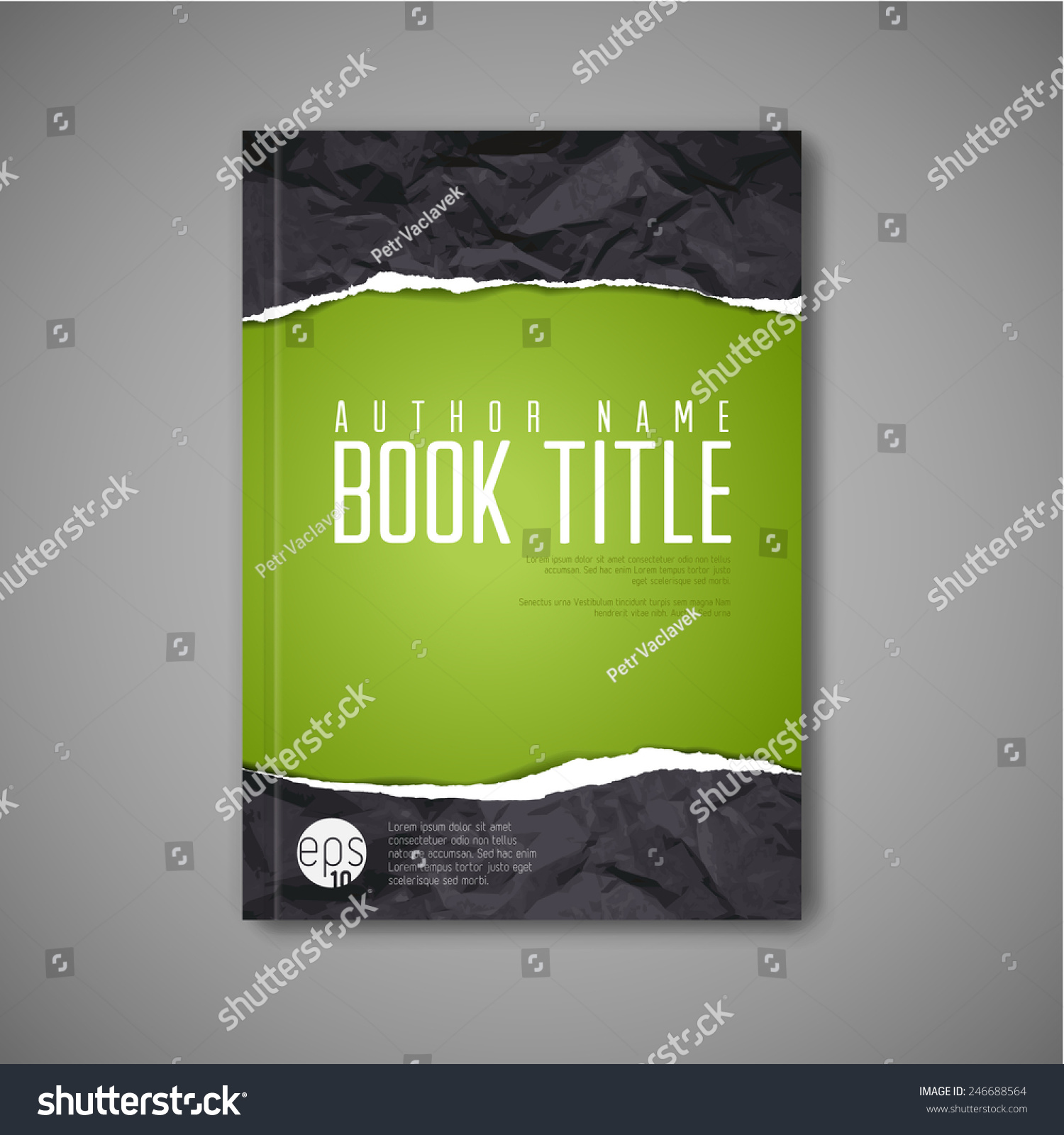 Paper Book Cover Template : Modern vector abstract book cover template stock
