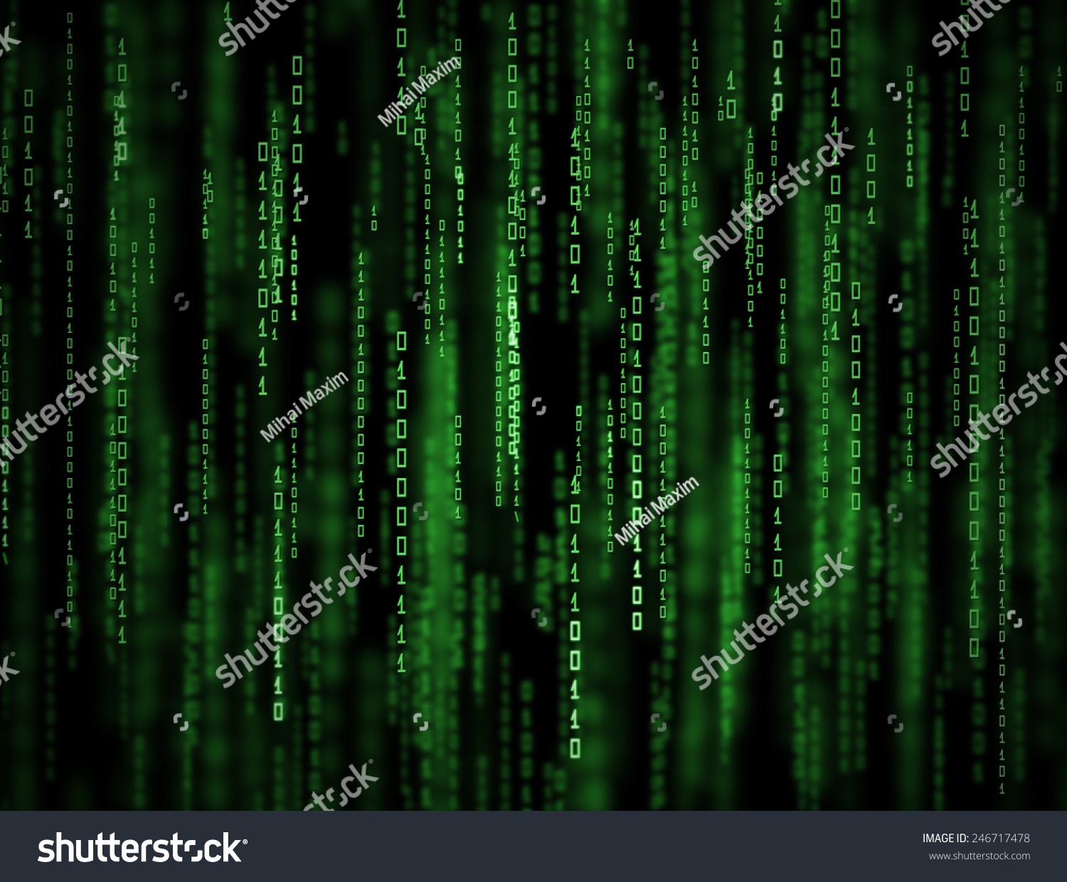 3d Matrix Background Abstract Green Binary Stock ...