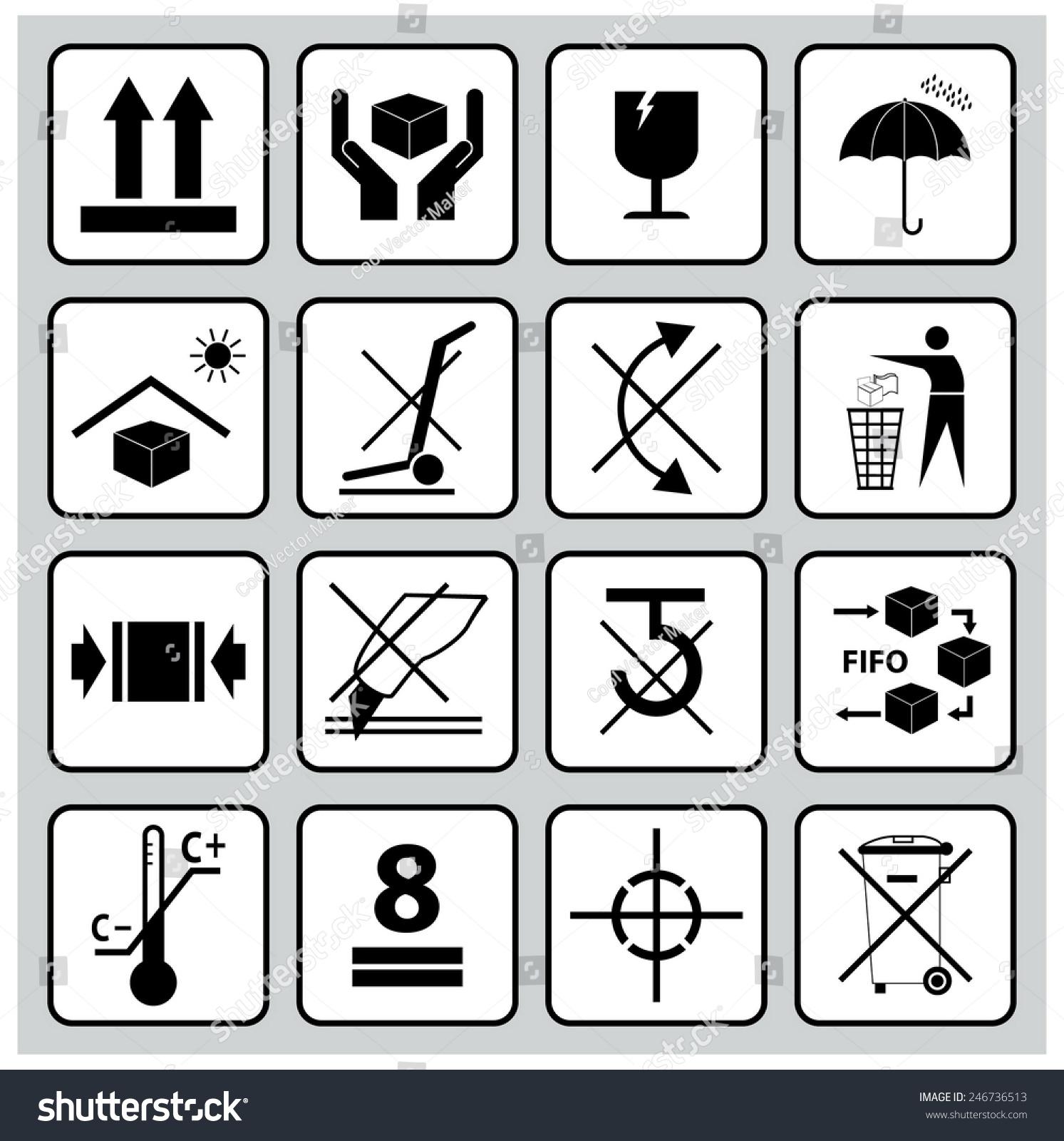 Packaging Symbols This Way Up Handle Stock Vector (Royalty Free ...