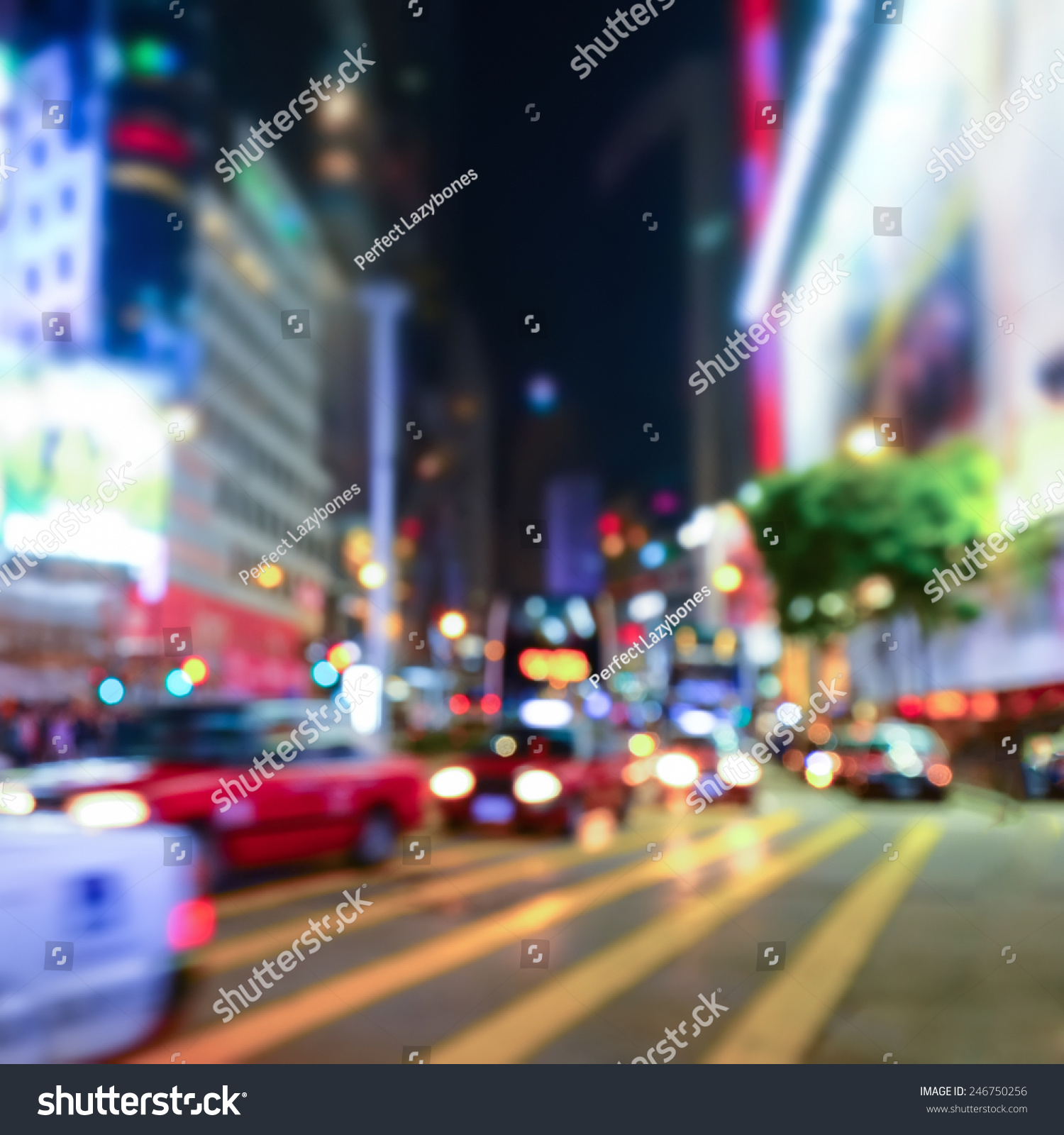 Abstract Cityscape Blurred Background Night View Stock