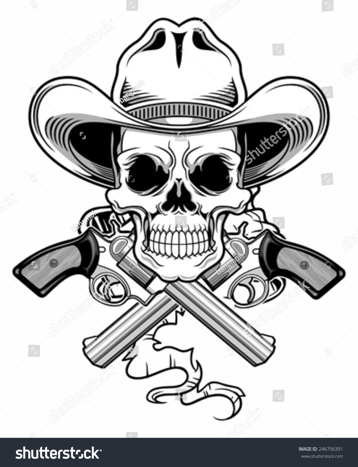 Skull Cowboy Images Stock Photos amp Vectors  Shutterstock