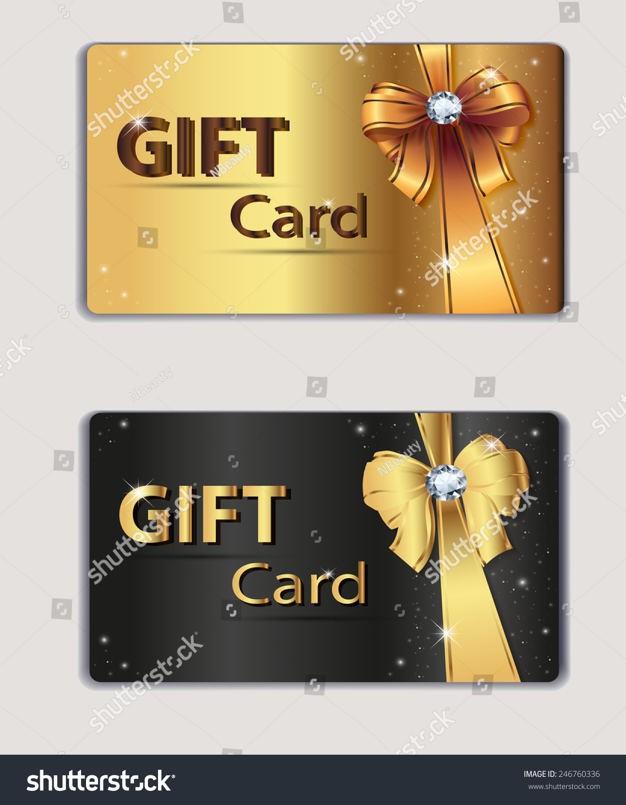 Gift Coupon Gift Card Discount Card Stock Vector 246760336 ...