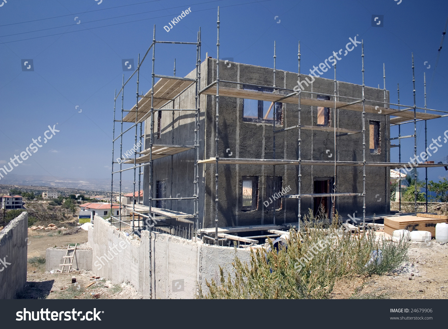 A house under construction in cyprus stock photo 24679906 for Find a home builder