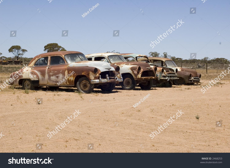 Old Car Wrecks Stock Photo 2468253 - Shutterstock
