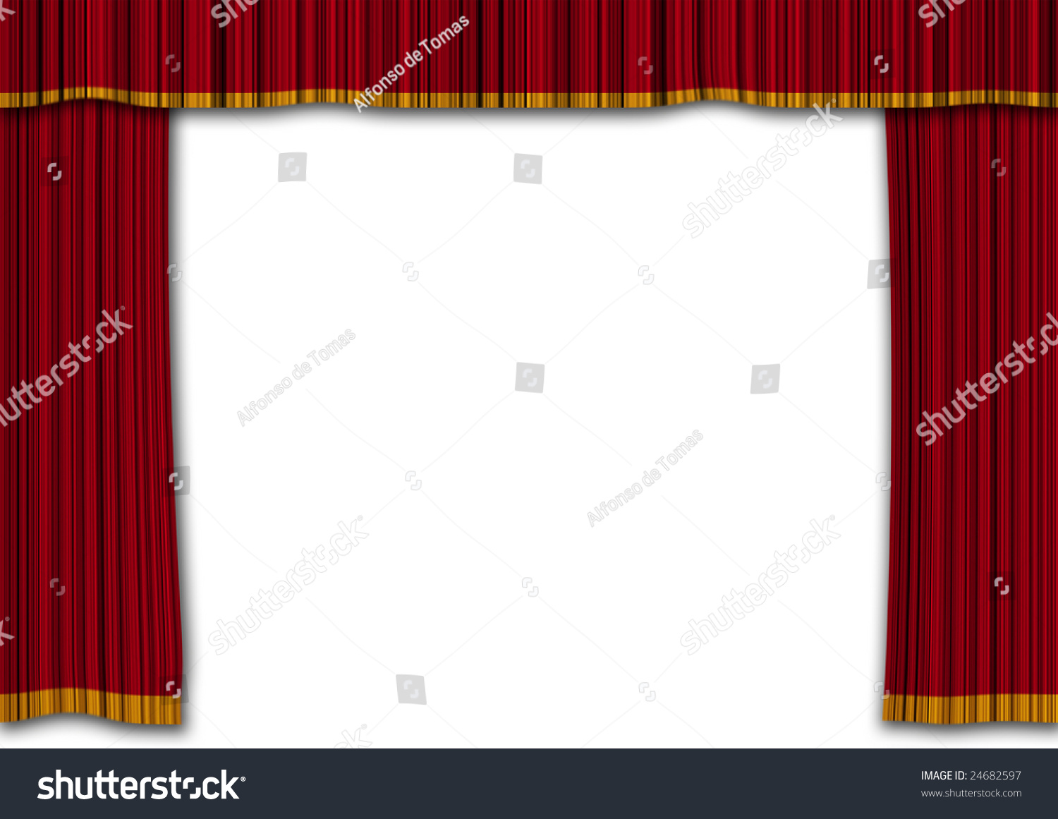 Realistic Red Curtains Show Entertainment Concept Stock ...