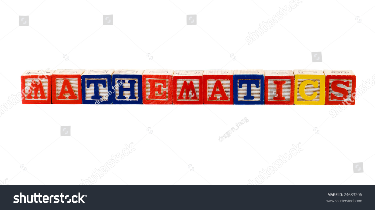 Word Mathematics Spelled Using Wooden Letter Stock Photo 24683206 ...
