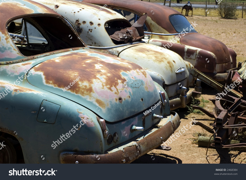 Old Car Wrecks Stock Photo & Image (Royalty-Free) 2468384 - Shutterstock