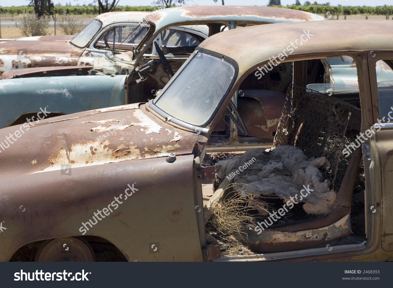 Old Car Wrecks Stock Photo (Royalty Free) 2468393 - Shutterstock