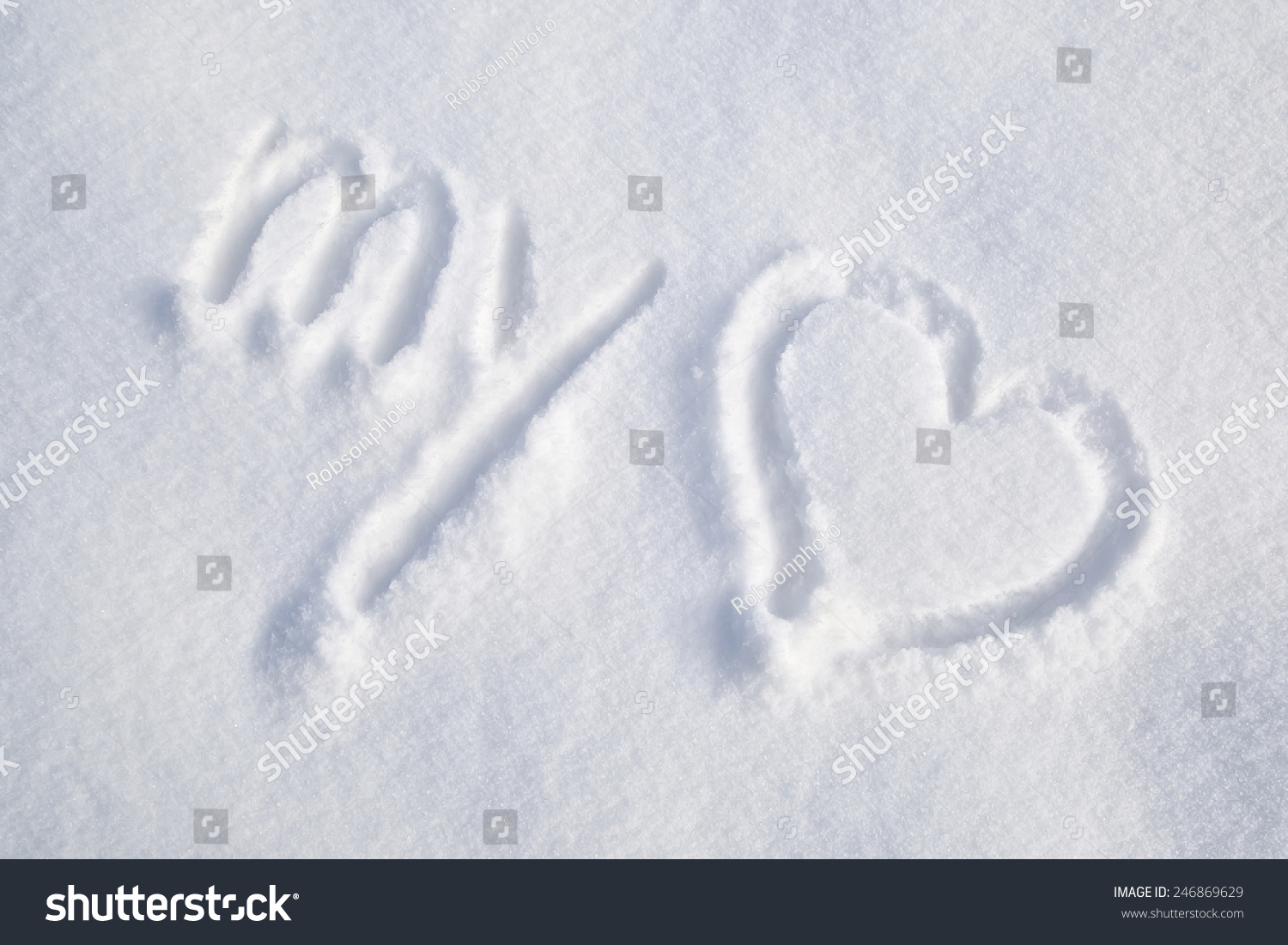 Heart Drawn In The Snow Ez Canvas