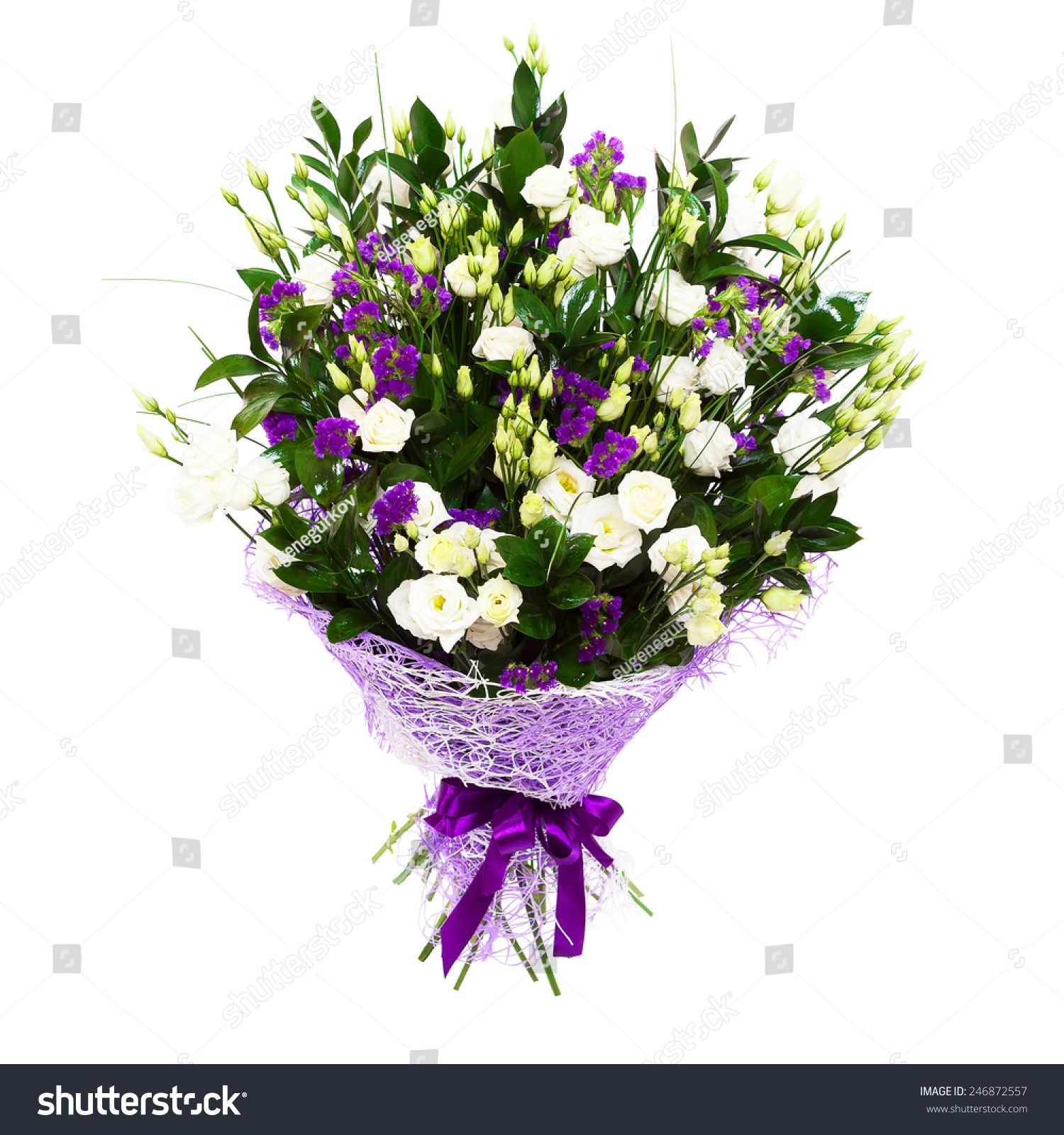Gorgeous large bouquet white roses purple stock photo edit now gorgeous large bouquet of white roses and purple flowers mightylinksfo