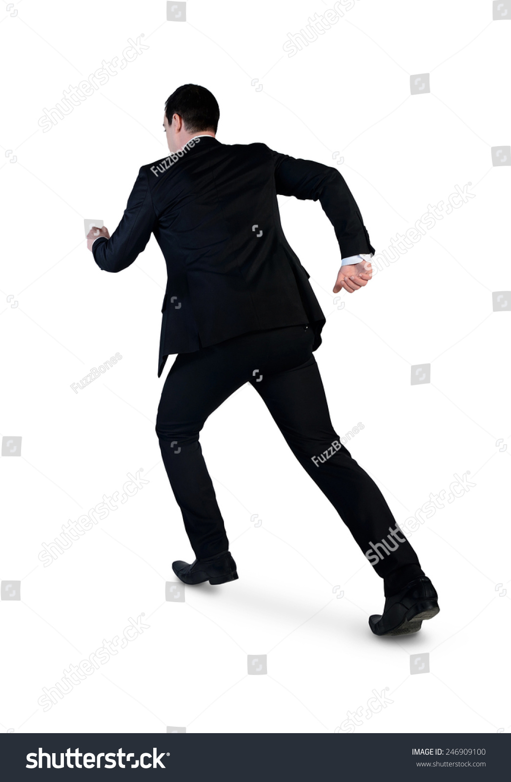 Isolated Business Man Running Away Stock Photo 246909100 ...
