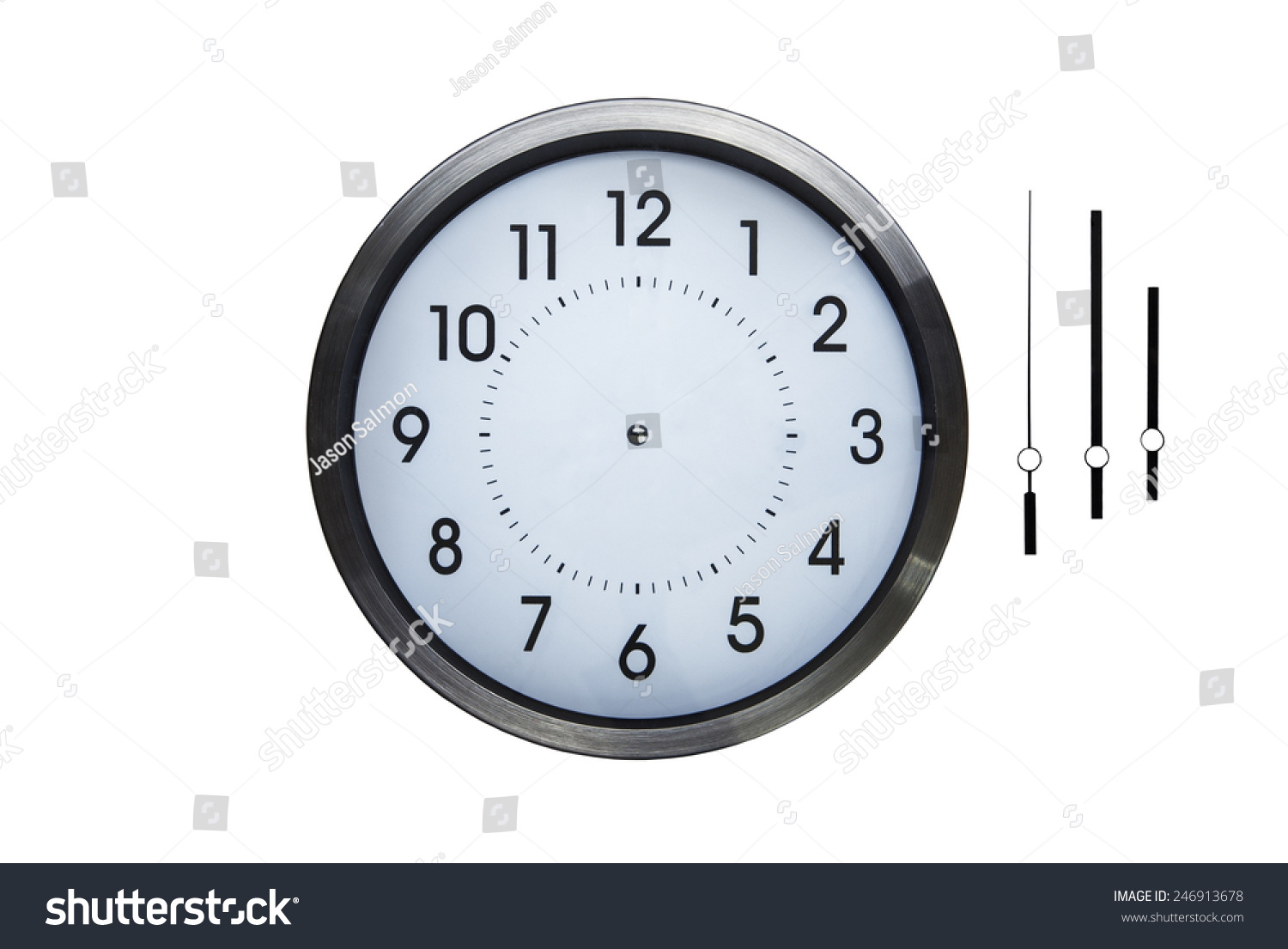 Wall Clock Without Hands You Can Stock Photo 246913678 Shutterstock