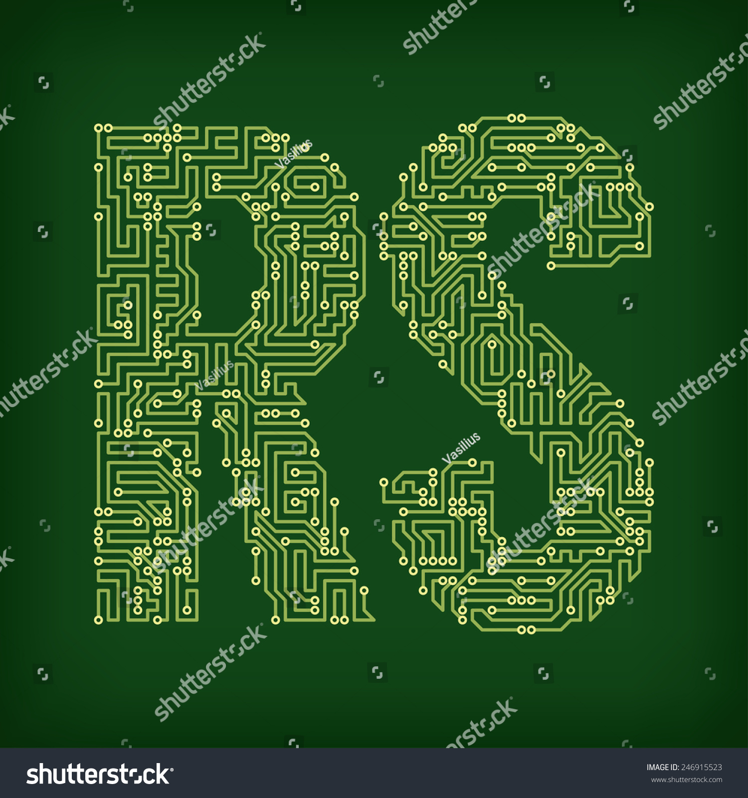 Strange Letters Made Tracks Printed Circuit Boards Stock Vector Royalty Wiring 101 Breceaxxcnl