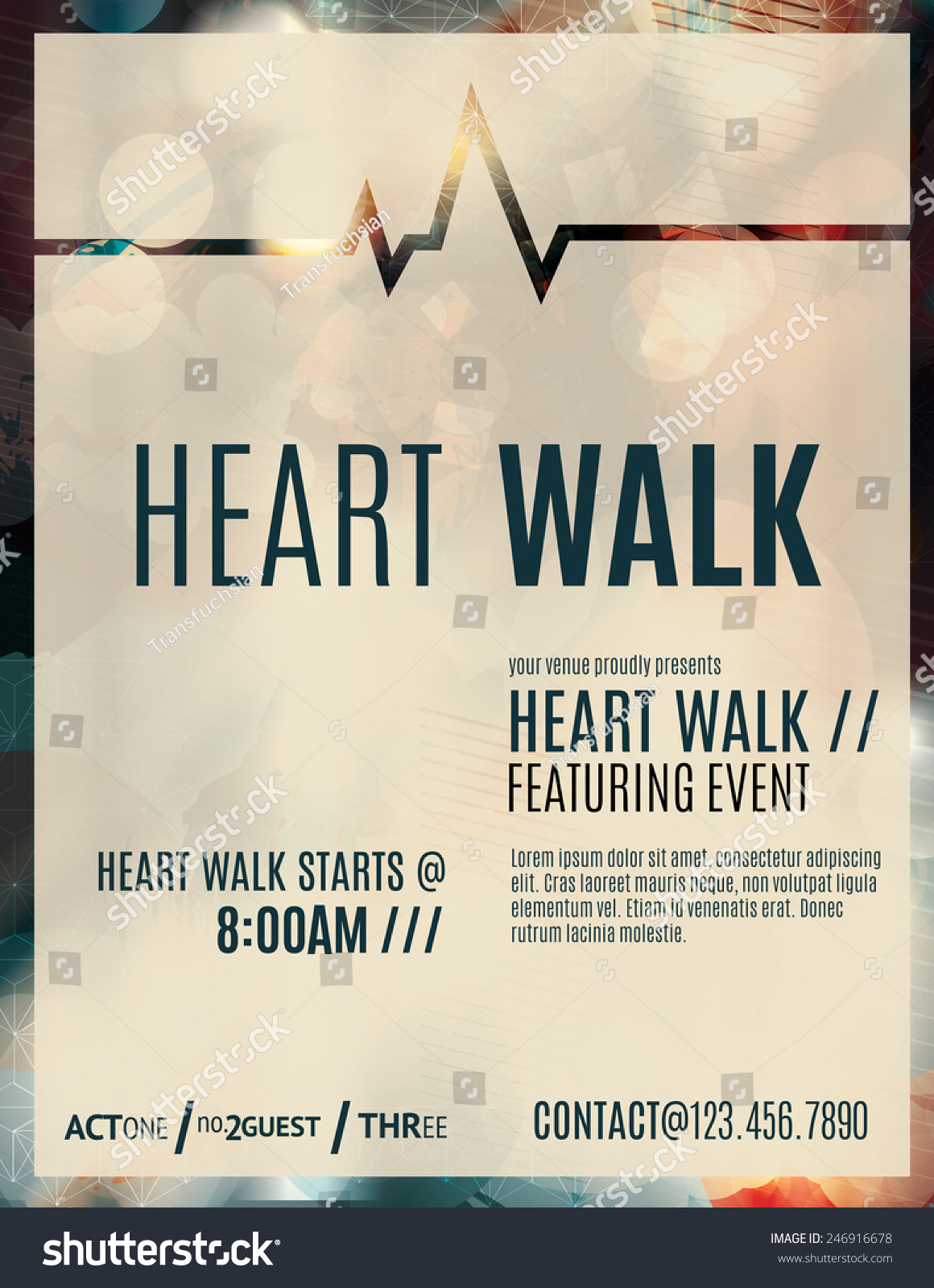 modern classy flyer poster template design stock vector  modern and classy flyer or poster template design layout to promote a heart walk fundraiser