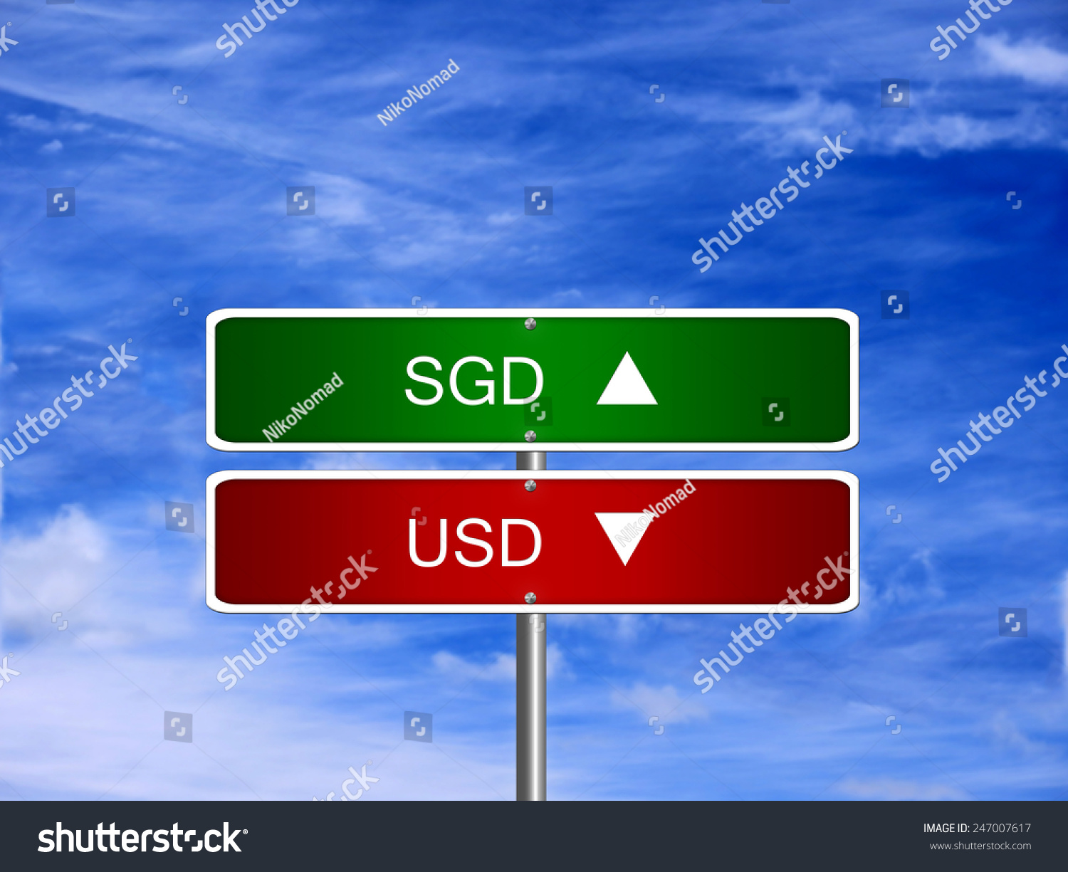 Sgd Usd Symbol Icon Down Currency Stock Photo Safe To Use