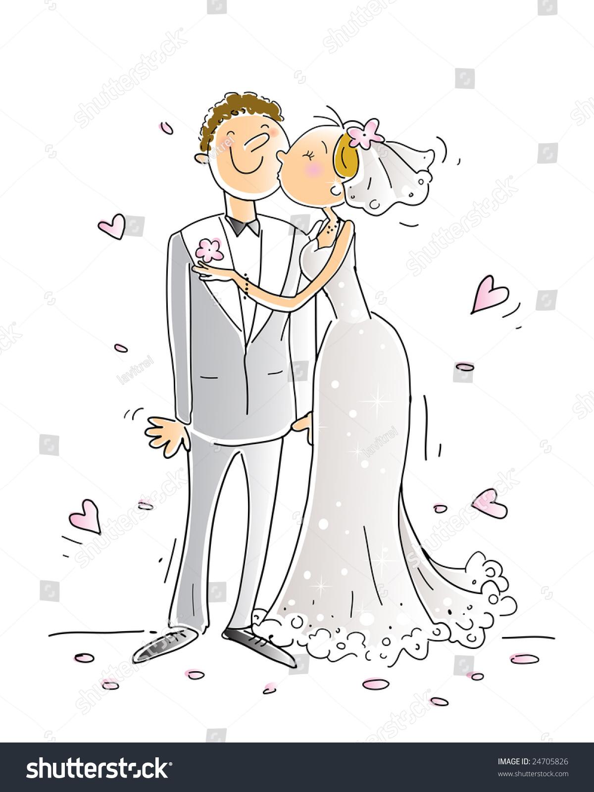 wedding congratulations card vector illustration happy