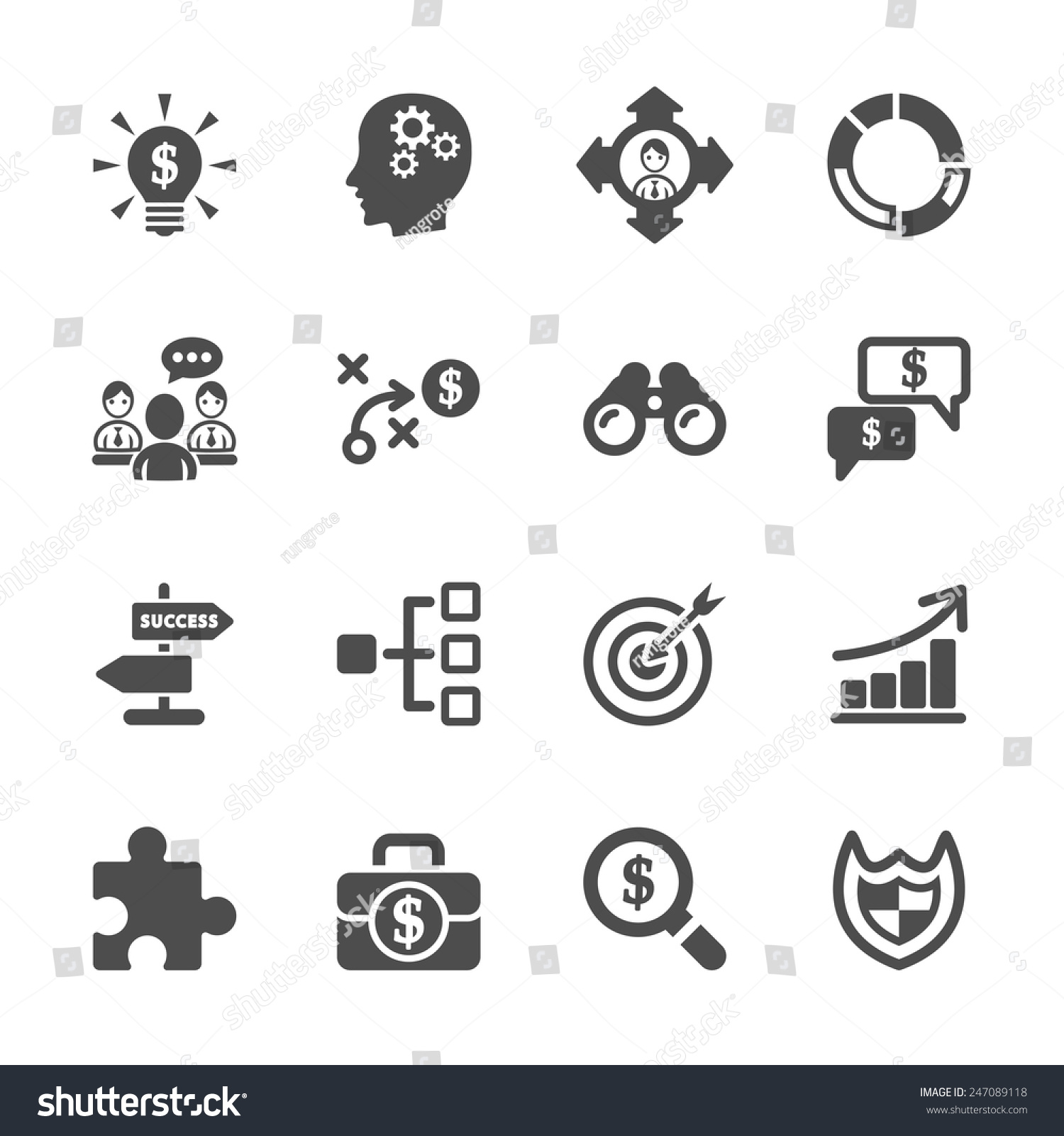 Pricing Strategy Icon: Business Strategy Icon Set, Vector Eps10.