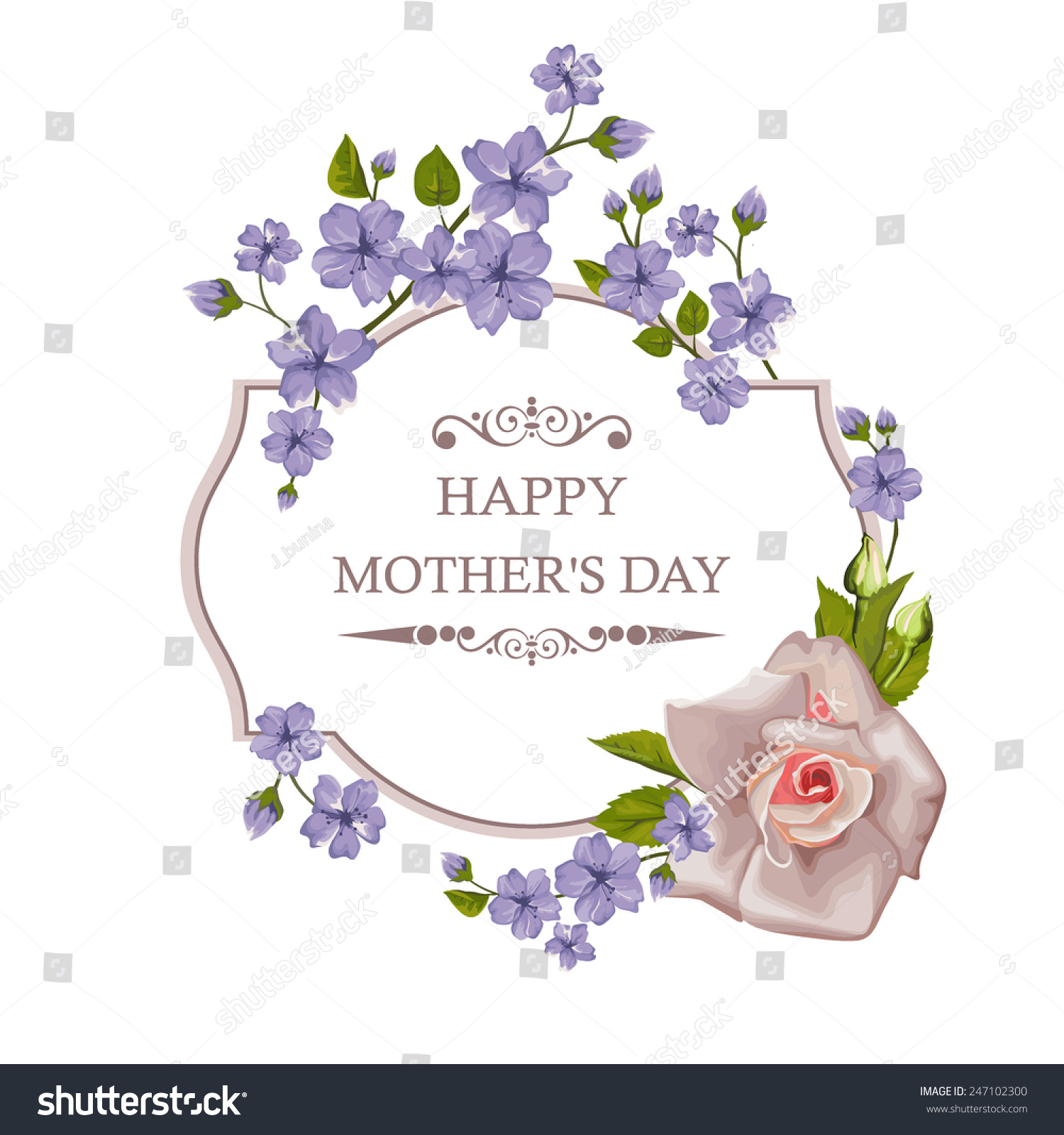 Peony flower isolated on white stock vector 368014568 shutterstock - Happy Mother S Day Floral Greeting Card With Rose Vector Illustration Perfect For Background Greeting