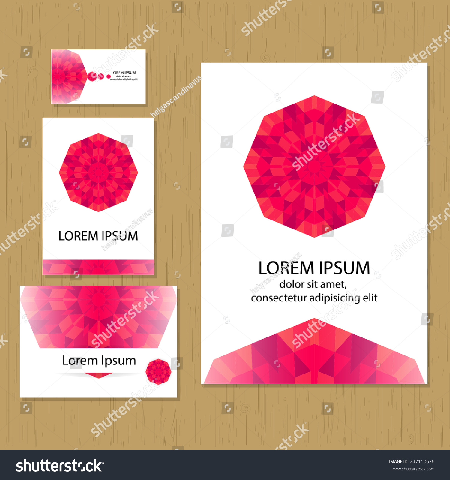 set greeting cards business cards flyer stock vector