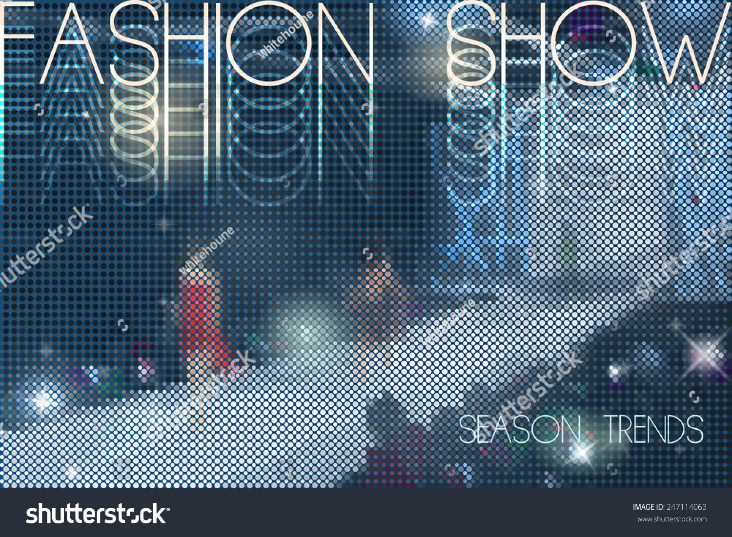 Fashion Show Abstract Vector Background Models Stock Vector Royalty