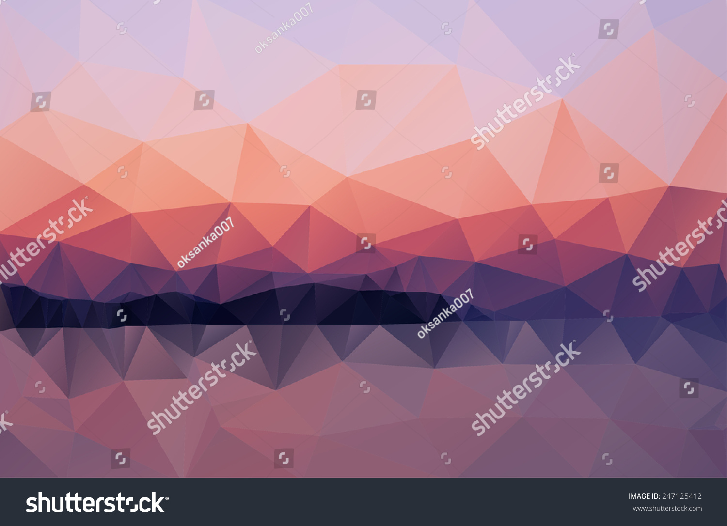 Website soft colors - Triangle Background Vector Polygon Art Soft