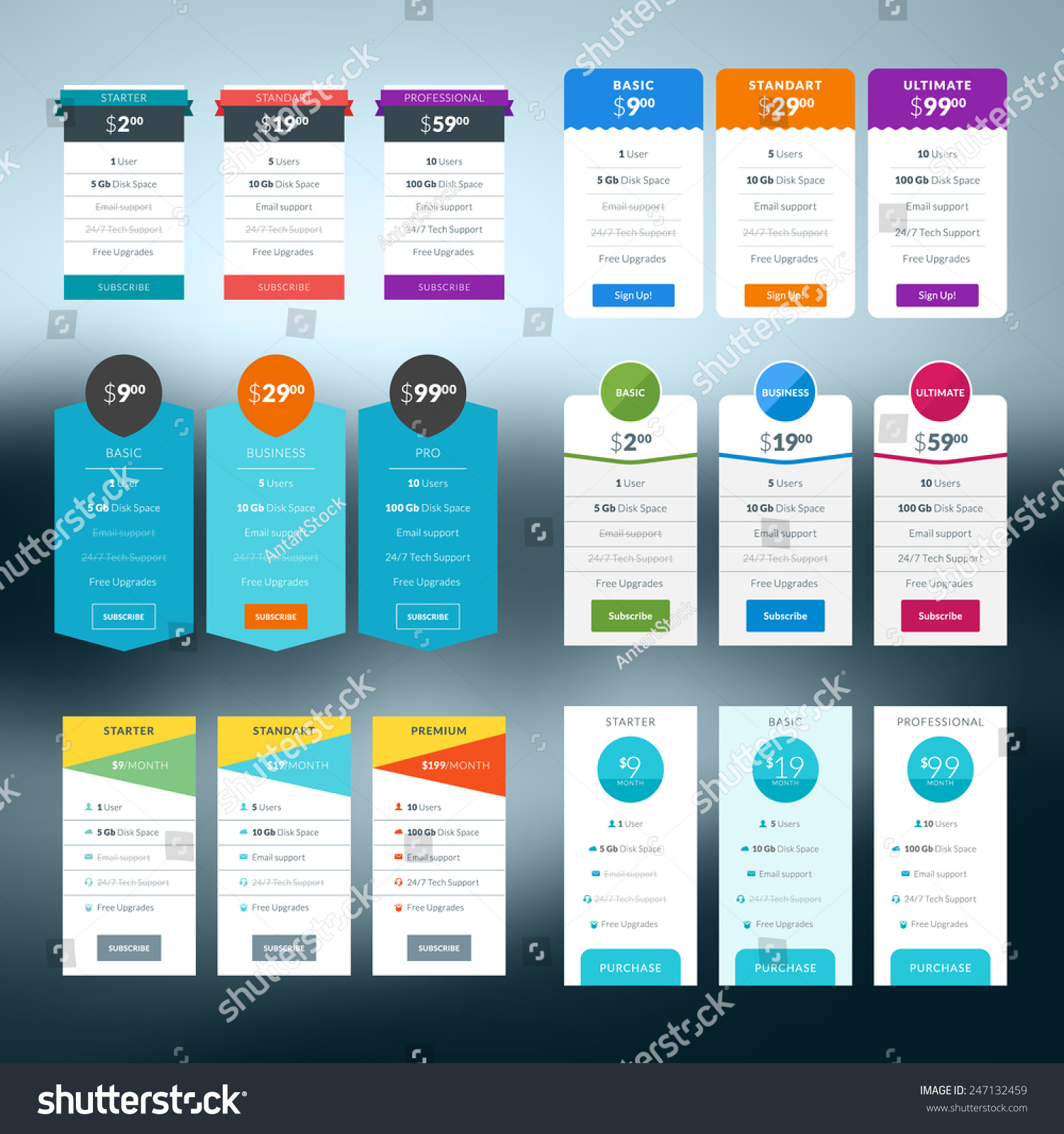 Doc.#630599: Price List Design Template – Pricing Tables (+88 ...