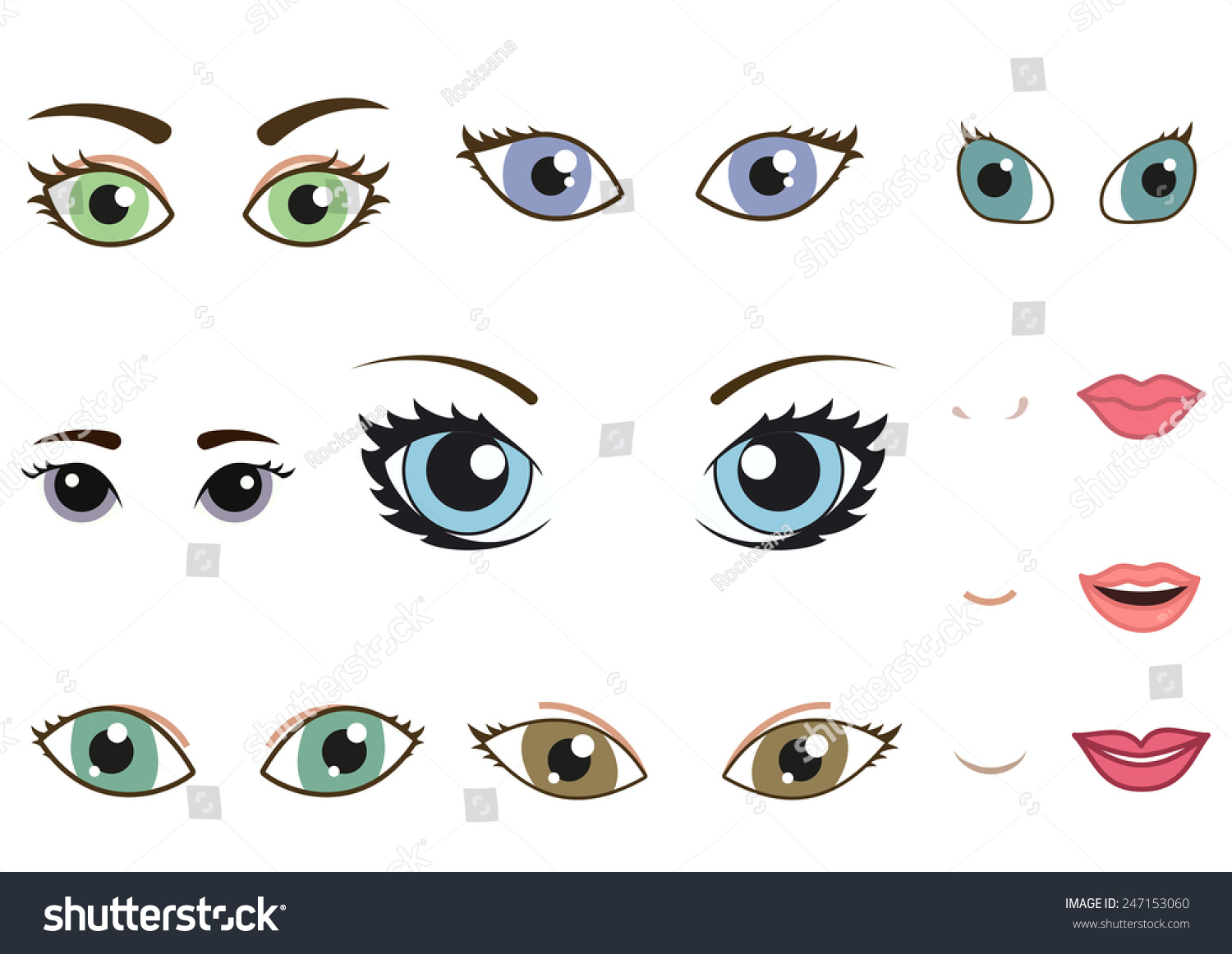 how to draw girls eybrows and eyes