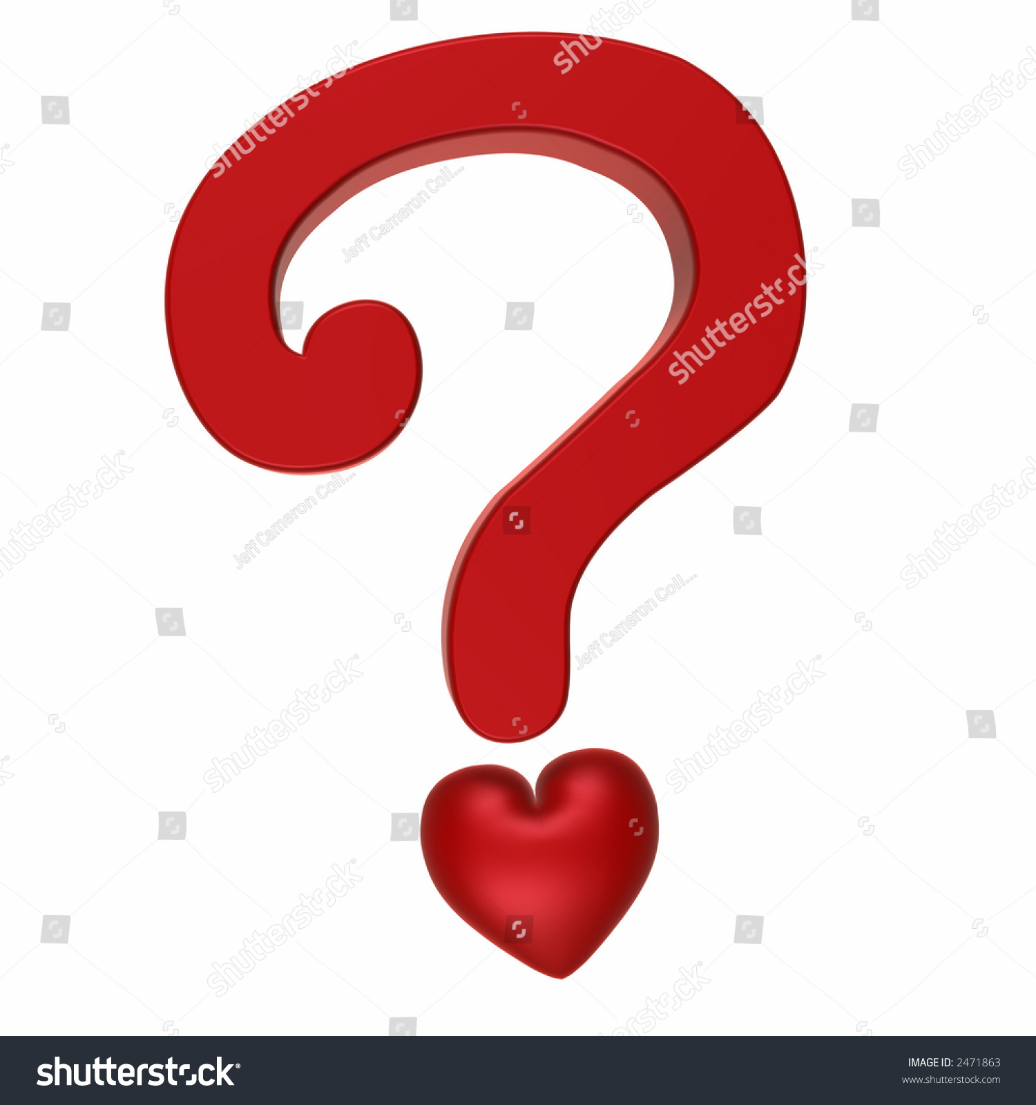 Question Love Red Heart Question Mark Stock Illustration 2471863 ...