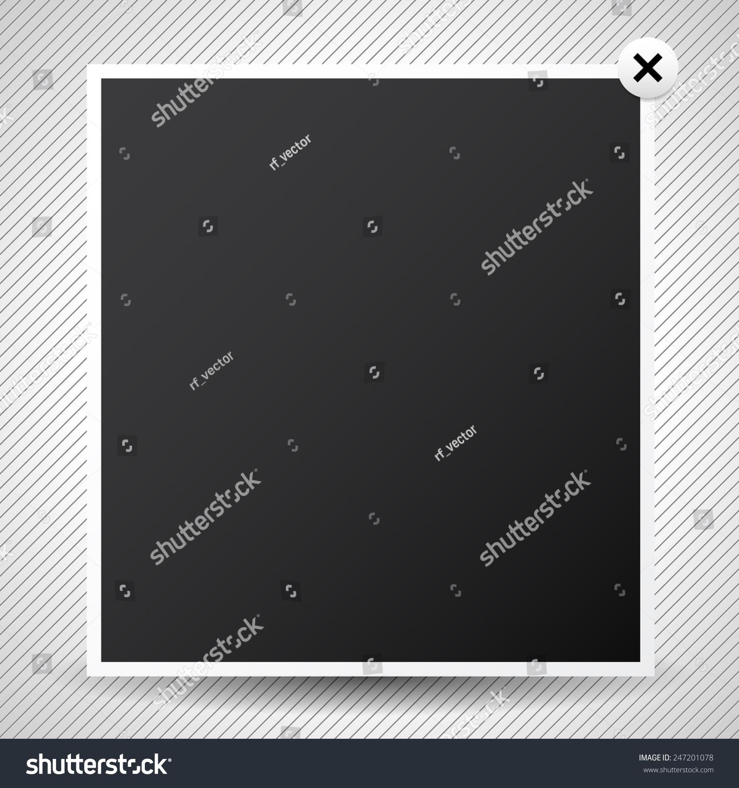Light box pop up window web design element stock vector for Pop up window design inspiration