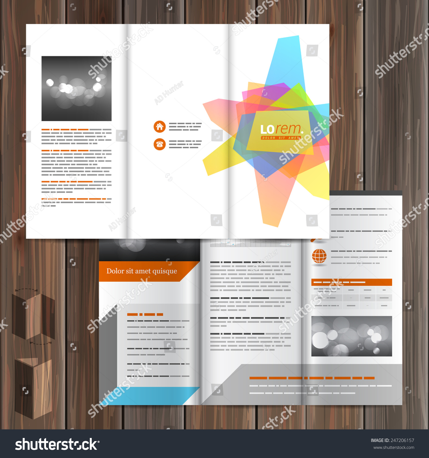White Creative Brochure Template Design With Art Color Elements