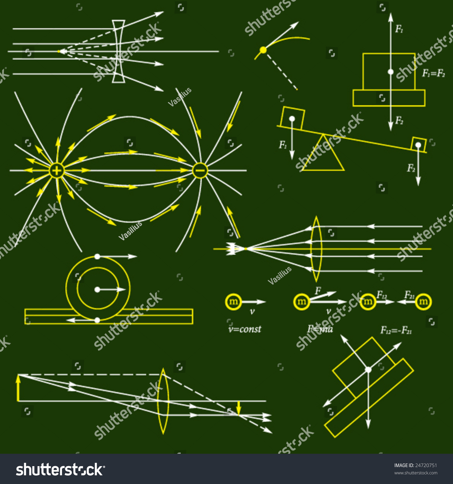 Physics Vector Background Stock Vector 24720751 - Shutterstock