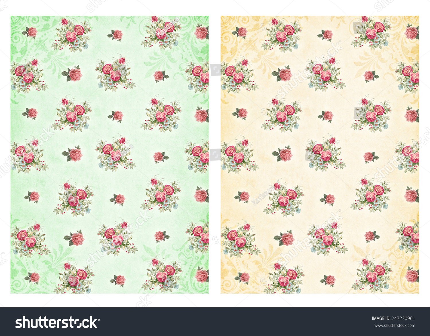Shabby Chic Backgrounds With Roses