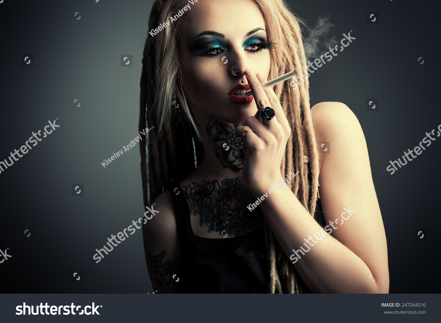 sexy smoking girl