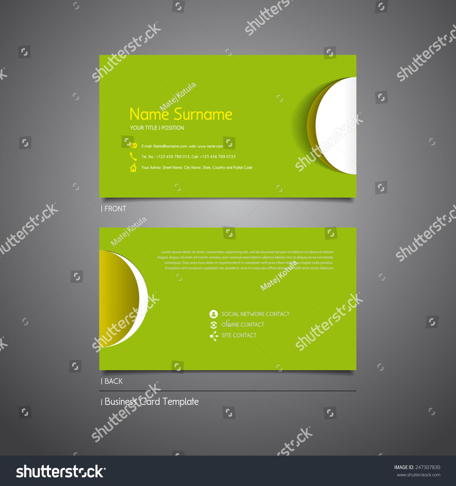 modern simple light business card template stock vector