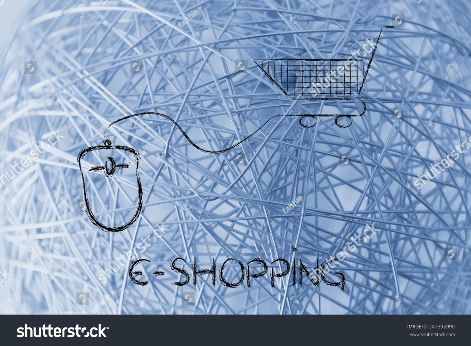 Online Sales Marketing Strategy Mouse Cart Stock Illustration ...