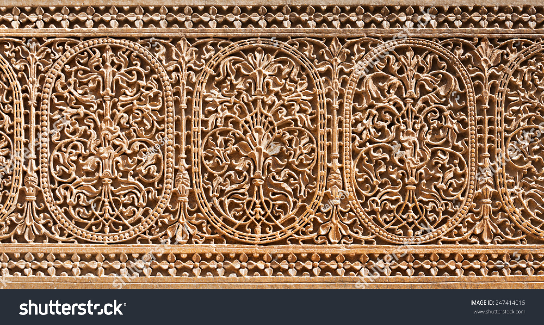 Pattern patwon ki haveli jaisalmer rajasthan stock photo