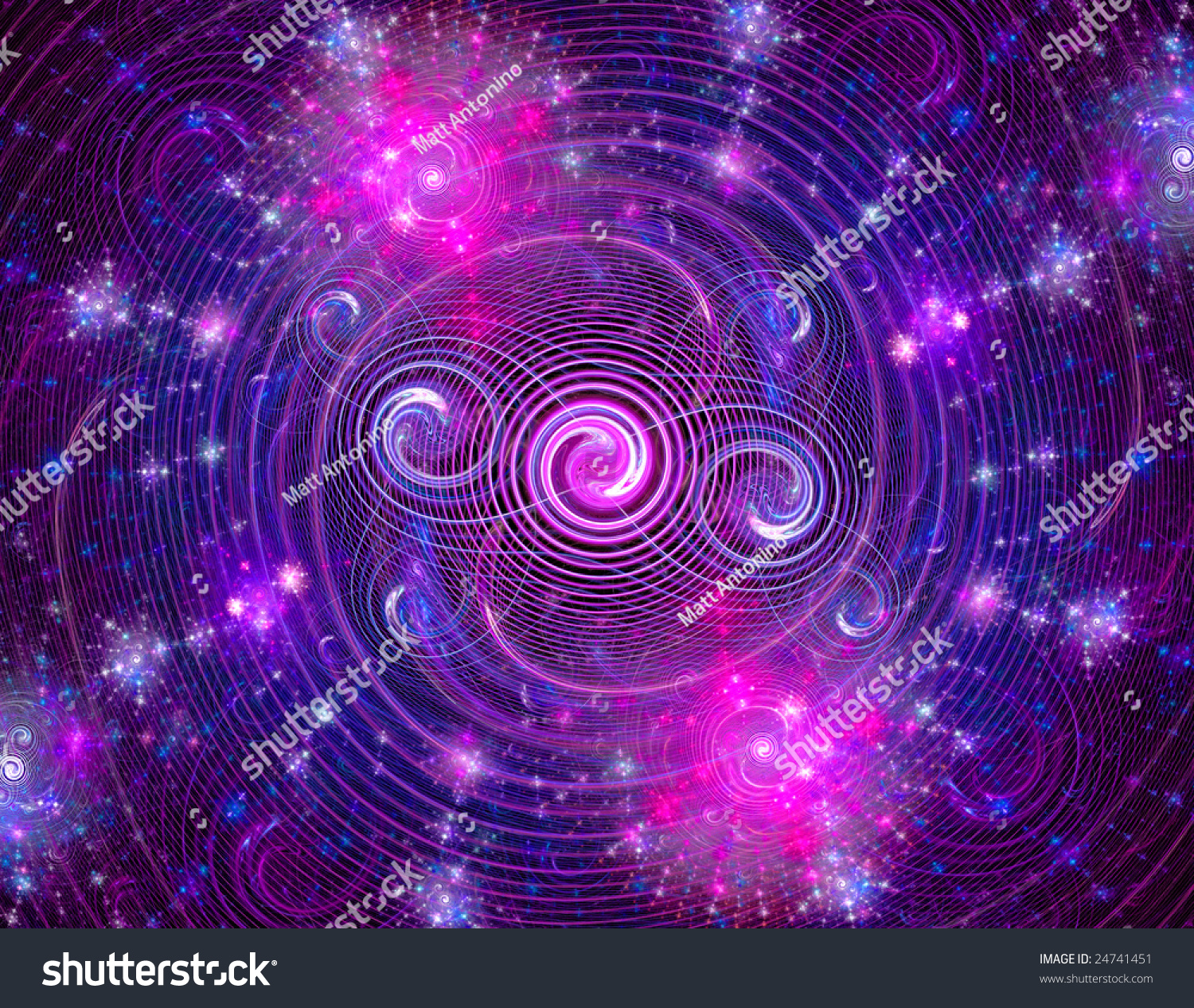 Purple Abstract Fractal Wallpaper Design Over A Black