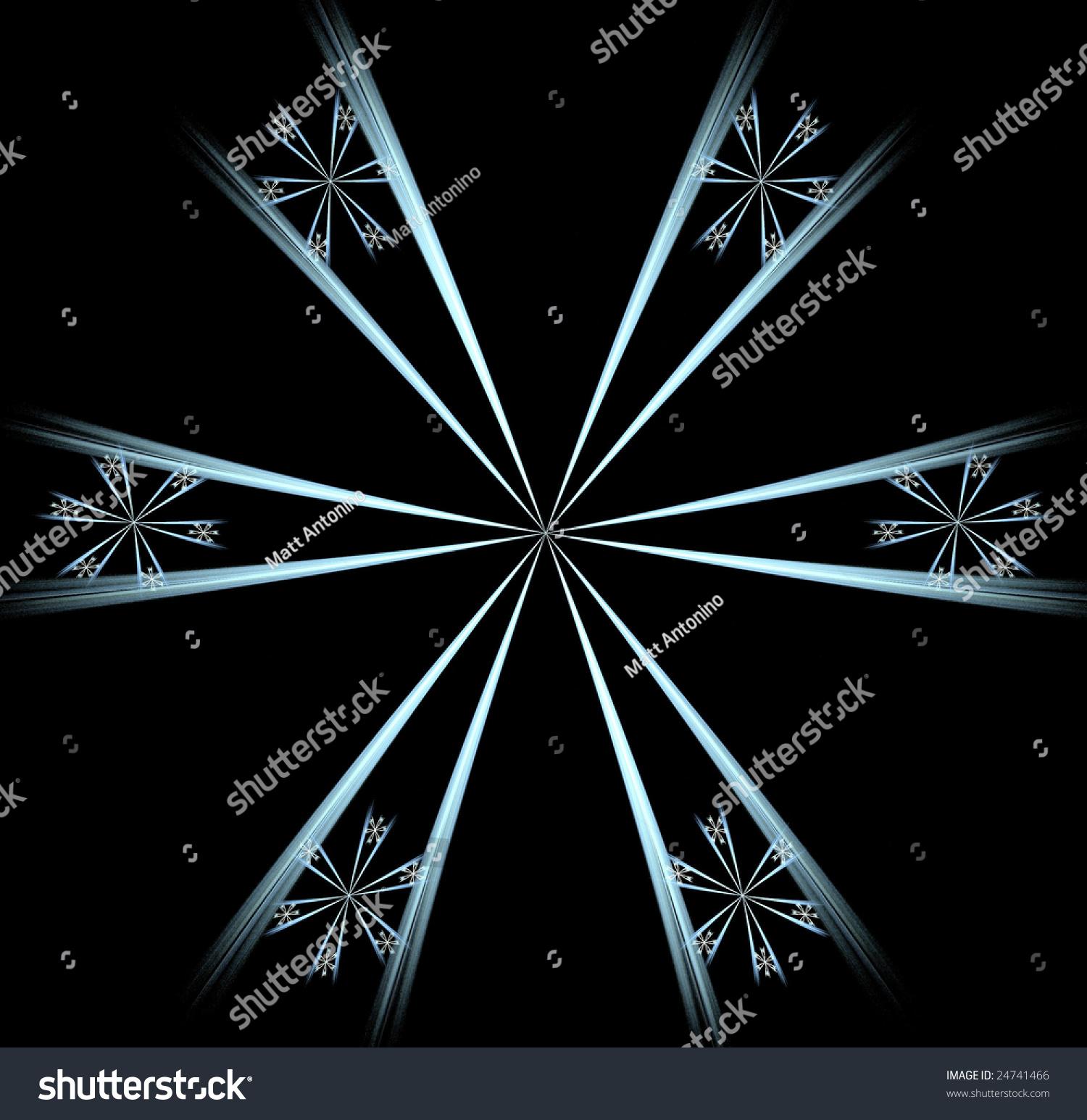 Blue Abstract Fractal Wallpaper Design Over A Black