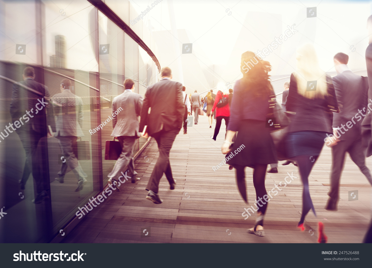 People Commuter Walking Rush Hour Cityscape Concept #247526488