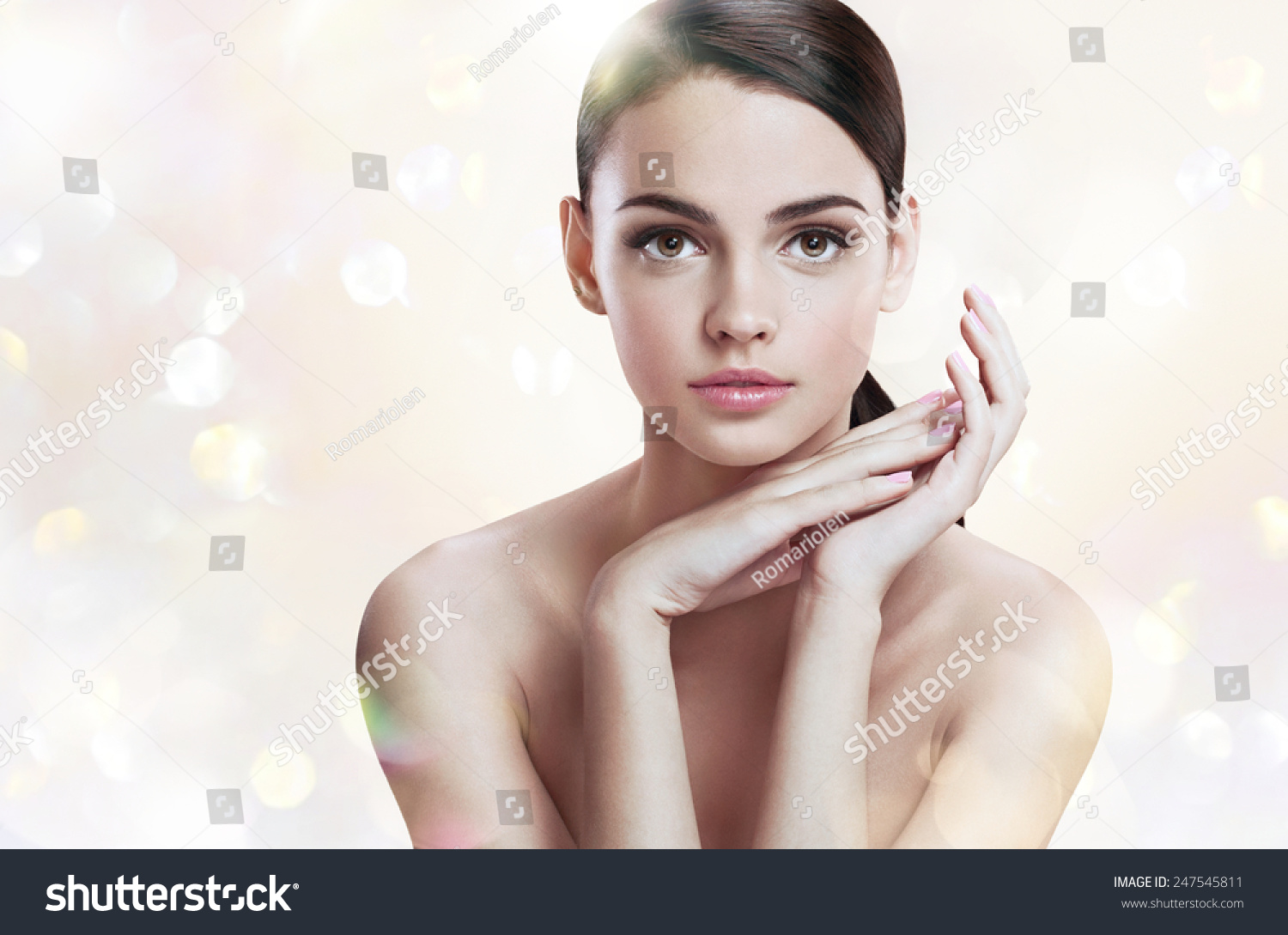 Charming young lady perfect makeup skin stock photo 247545811 shutterstock - Charming teenage girls image ...