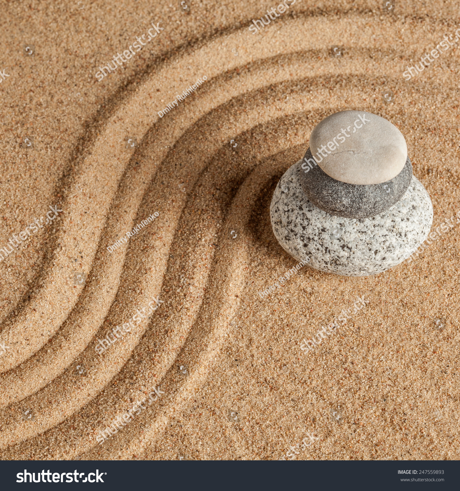Japanese Zen Stone Garden Relaxation Meditation Stock Photo (Royalty ...