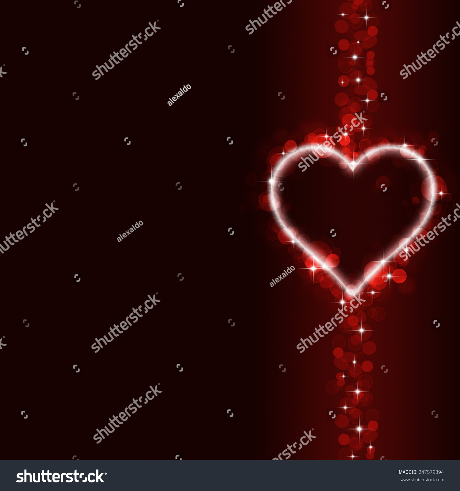 Abstract Valentine Red Background With Blurred Lights And Hearts   Valentine  Lights