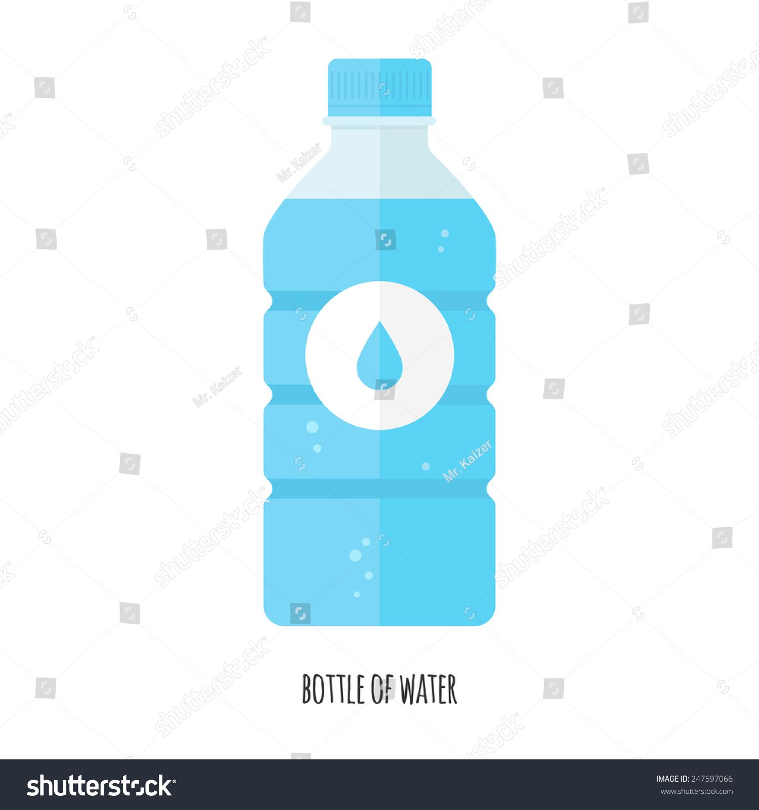 Water Bottle Vector: Vector Illustration Bottle Water Stock Vector 247597066