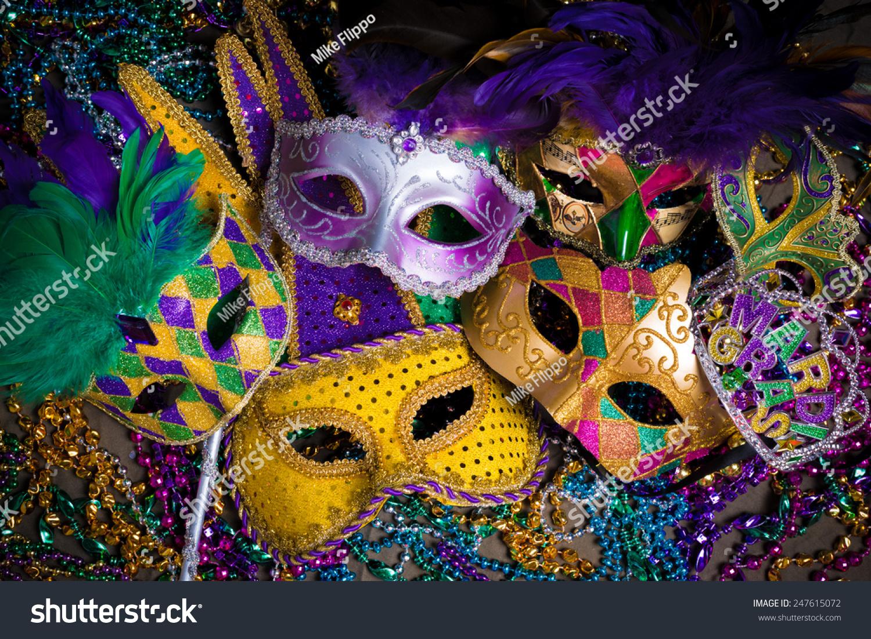 Group Venetian Mardi Gras Mask Disguise Foto de stock (libre de ...