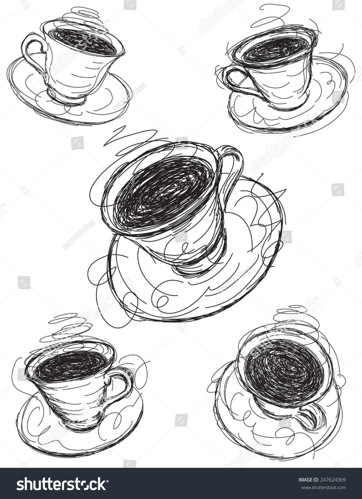 Coffee cup sketch - Coffee Cup Sketches