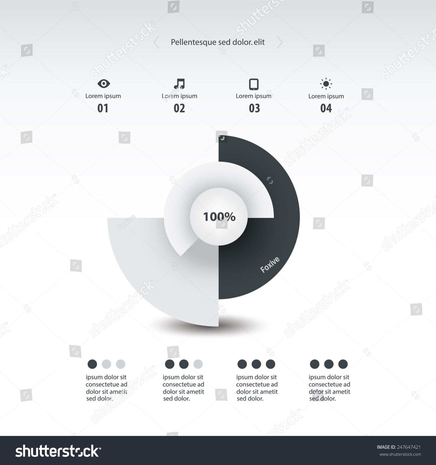 Monochrome color pie chart circle graph stock vector 247647421 monochrome color pie chart circle graph infographics element vector nvjuhfo Choice Image
