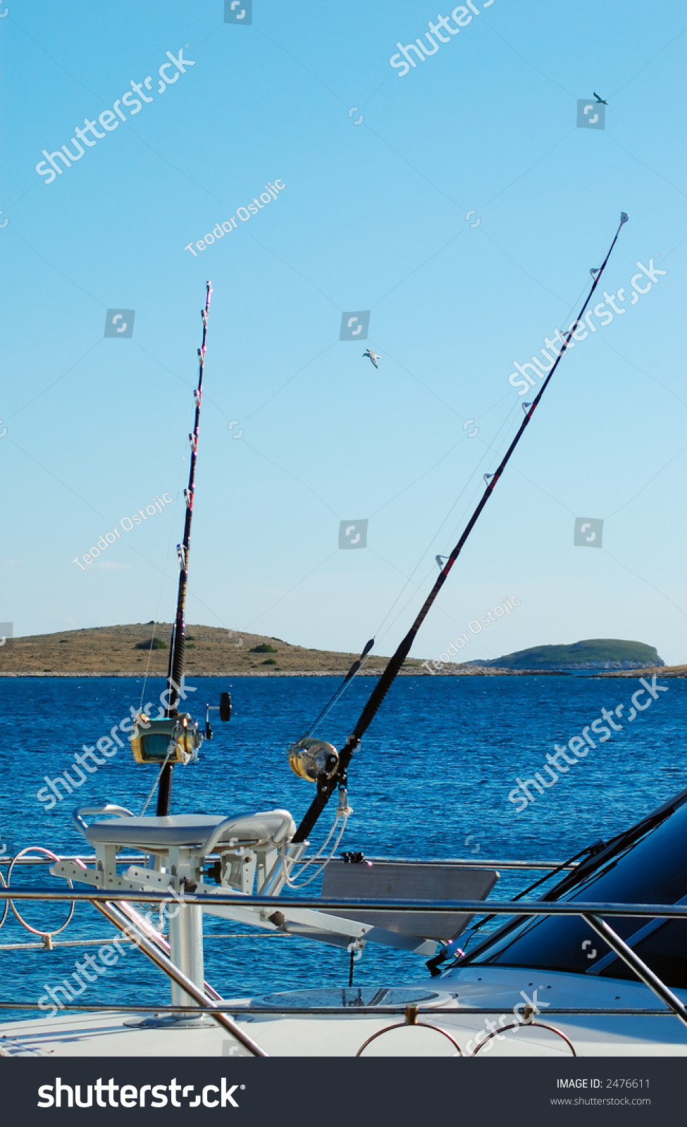 Sport fishing boat for big game fishing stock photo for Sport fishing games