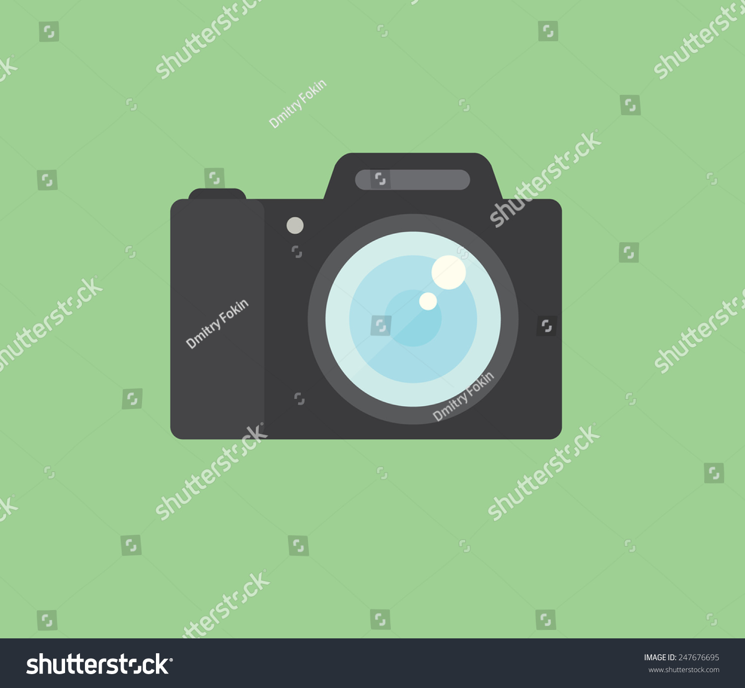 Photo camera icon modern minimal flat design style for Camera minimal